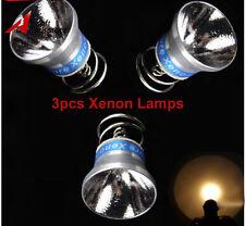 3pcs Xenon Bulb 6V 180lumen Lamp Reflector for Surefire 6P G2 P60 P61 Flashlight