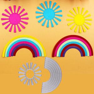 2pcs-Sunshine-and-Rainbow-Embossing-DIY-Scrapbooking-Metal-Cutting-Dies-Crafts