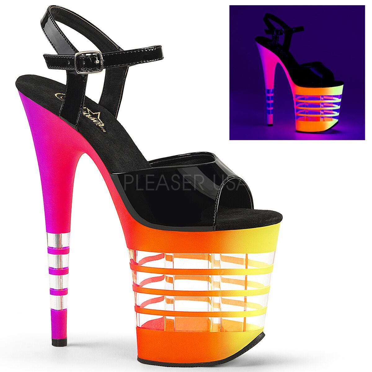 Pleaser FLAMINGO-808UVLN Neon FLAMINGO-809UVLN Neon FLAMINGO-808UVLN UV Platform Sandale 61b806