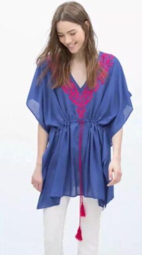 Zara tunika kleid blau