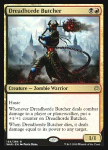 DREADHORDE BUTCHER X4 WAR OF THE SPARK MTG MAGIC ~NOSTALGIC TREASURES~