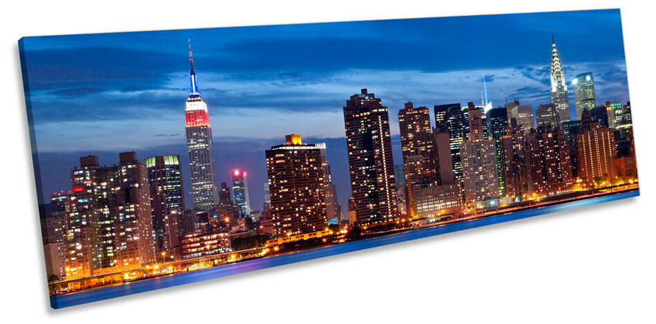 MANHATTAN NEW NEW NEW YORK CITY NOTTE ART. a Muro Skyline Panorama incorniciato stampa 9b4db2