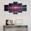 thumbnail 3 - Yatsen Bridge 5 Piece Wall Art for Living Room Red Aurora Appears in The Ocean S