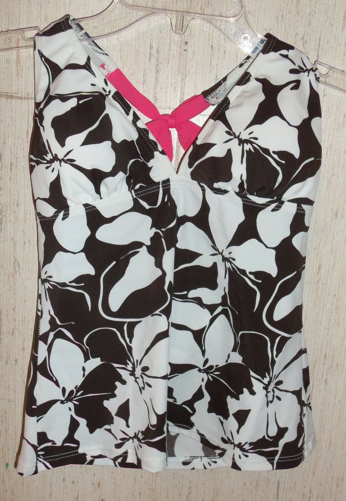 EXCELLENT WOMENS   JUNIORS ATHLETA FLORAL PRINT TANKINI SWIMSUIT TOP   SIZE XS