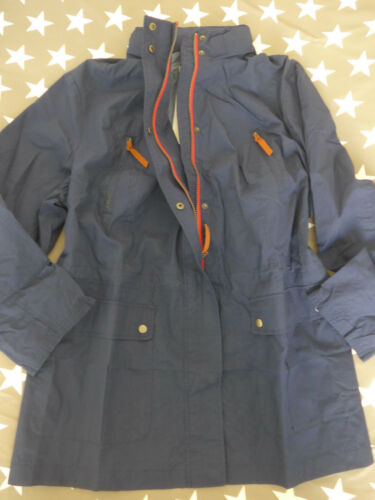 Sheego Jacke Parka Mantel Gr 011 40 bis 58 Marine Blau Ton mit Kapuze 989