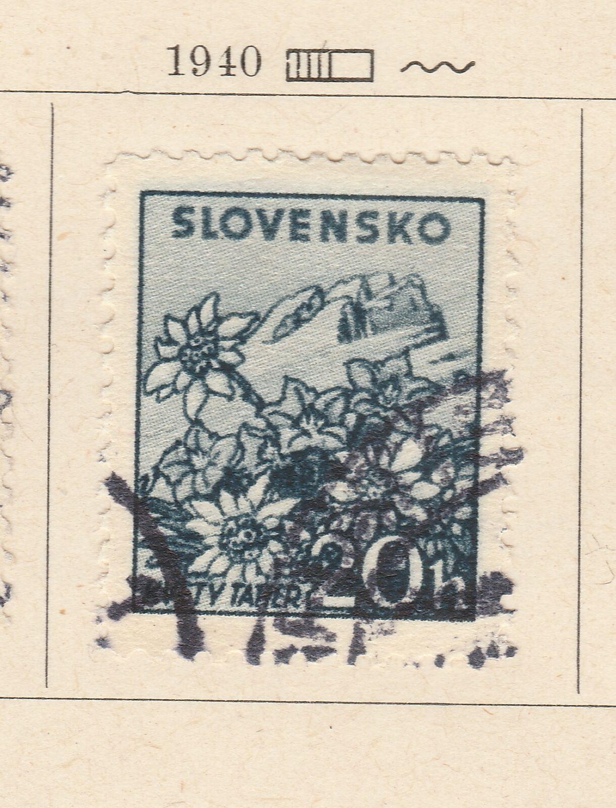 A5P57F201 Slovakia 1940-43 Wmk Cross Multiple 20h Perf 12 1/2 used