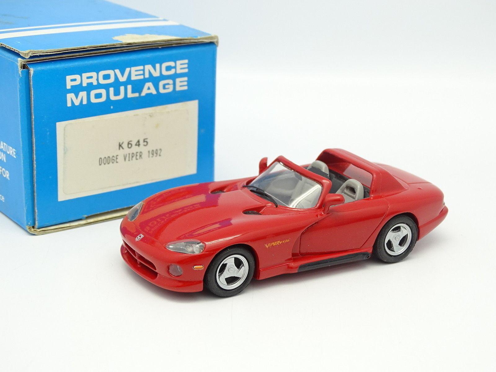 Provence Moulage Kit Monté 1 43 - Dodge Viper RT 10 1992 red