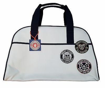 Weekend Bag WC 2096 Cream Mens Wigan Casino Retro Mod Large Bowling Bag