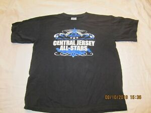 Vintage-Central-Jersey-All-Stars-CJA-Cheerleading-Sponsor-t-shirt-Size-Youth-L