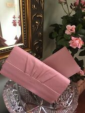 New Coach Checkbook Wallet Soho Pleated Pink Leather Slim F44621 W23