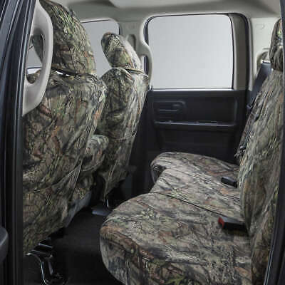 Covercraft Carhartt Mossy Oak Camo SeatSaver Second Row Custom Fit Seat Cover for Select Nissan Xterra Models Duck Weave Break-Up Country