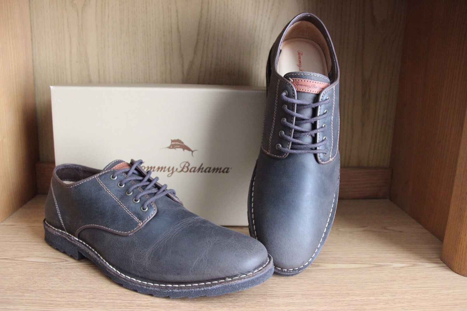 Scarpe casual da uomo  Tommy Bahama Gilford Oxford Shoe Brown uomo Size 13  TFM00230
