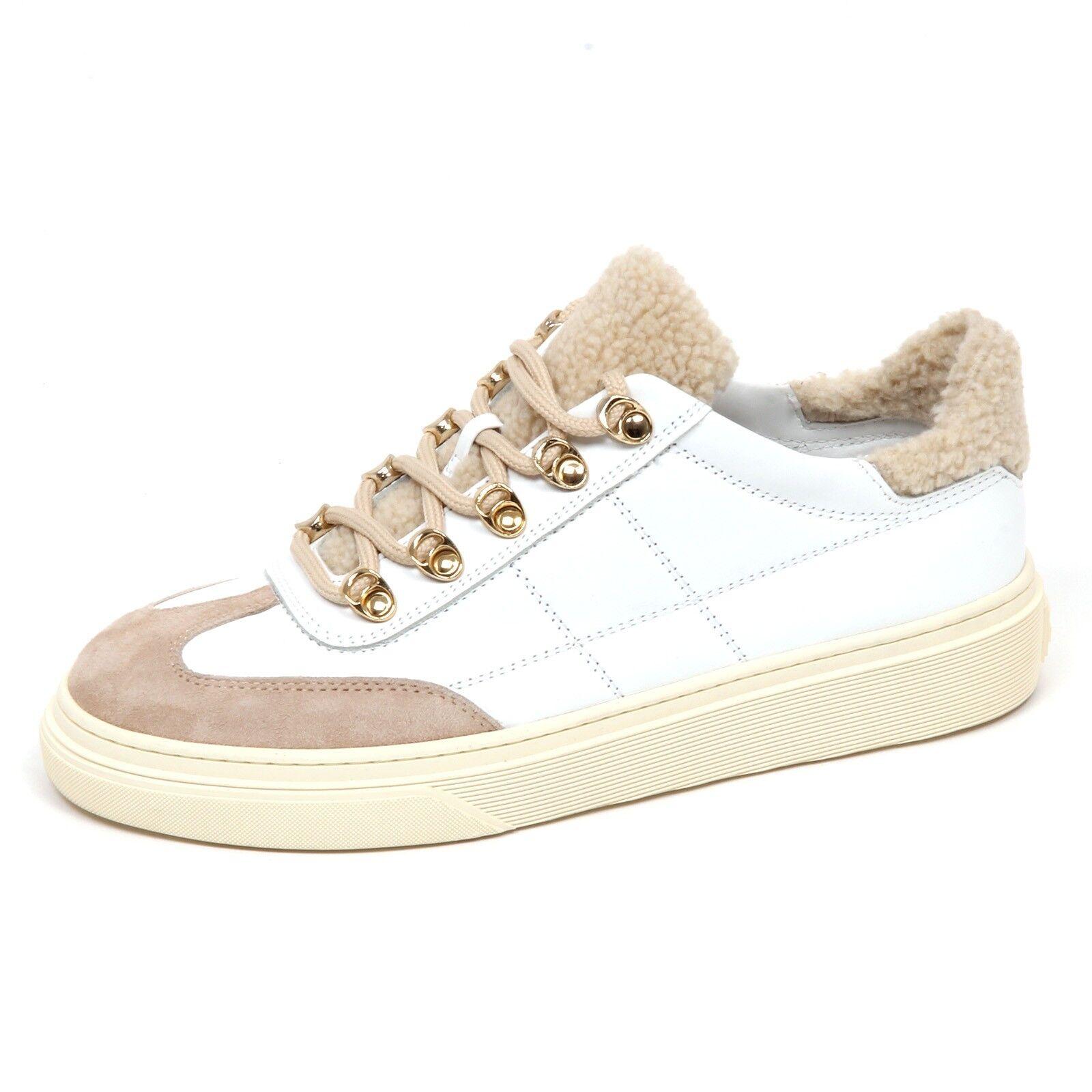 E2880 Hogan Sneaker women Beige Bianco H340 shoes ecopelo shoes Woman