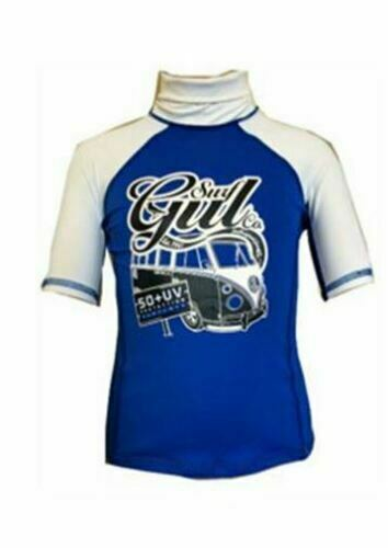 UV bodyboard GUL KIDS CAMPERVAN SHORT SLEEVE RASH VEST RASHGUARD RED BLUE 50