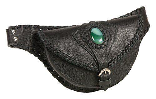 Milwaukee leather MP8835-negro-PCS negro señoras correa del bolso con funda pistola