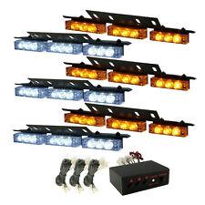 HQRP 6 paneles Luz estroboscópica LED blanca / amarilla de emergencia de coche