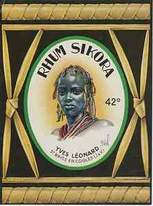 """""""RHUM SIKORA- Yves LEONARD St Brice en Coglès"""" Etiquette offset originale PXM6d3Ex-09112322-205232000"""