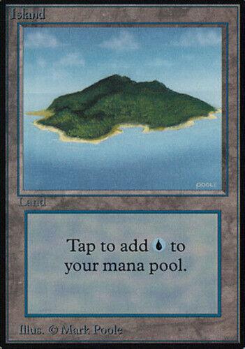 Green English MTG Alpha 1x Island LP
