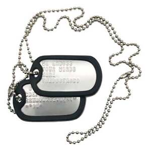 PAIR-SET-U-S-PERSONALISED-STAINLESS-STEEL-ARMY-MILITARY-DOG-TAGS-THEDOGTAGCO
