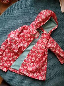 12-18 Mois Fille Rose/rouge Avec Coeurs Coupe-vent Imperméable Mothercare-afficher Le Titre D'origine