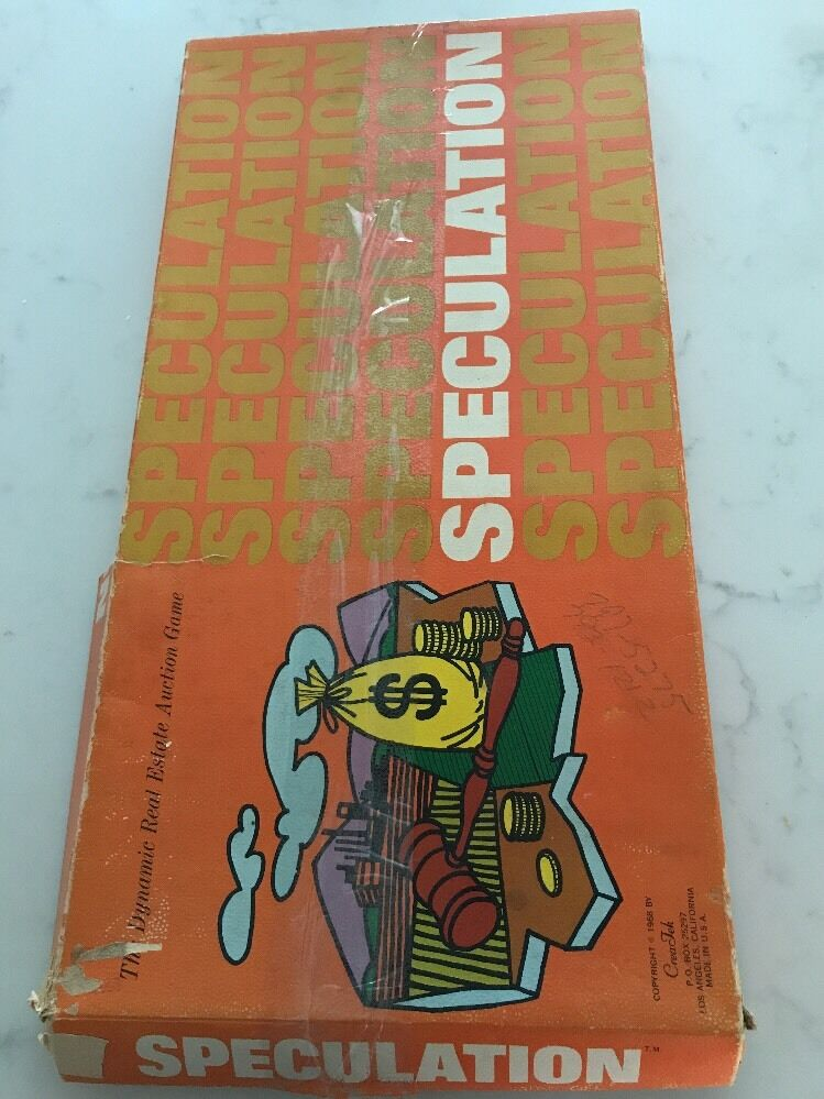 Vintage  RARE 1968 Antique Speculation The dynamic Real estate Auction Game