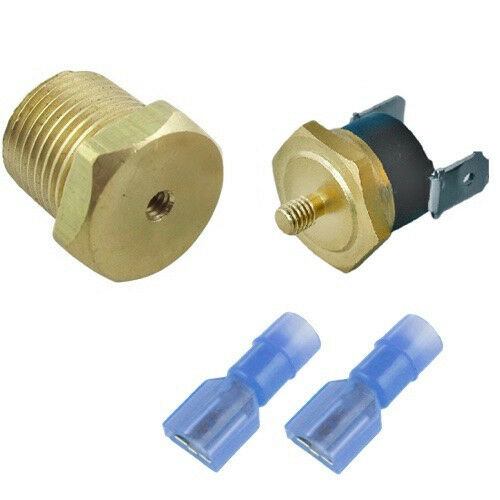 """4 PACK 160/'F RADIATOR FAN THERMOSTAT TEMP SWITCH 3//8/"""" HOT ELECTRIC POWER FEED"""