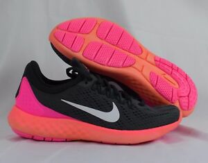 sports shoes 33899 87bfc Image is loading Nike-Lunar-Skyelux-855810-004-Gray-White-Pink-