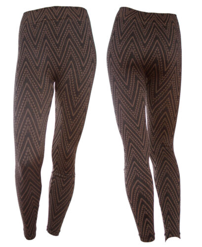 Women Chevron Print Stretch Lined Thick  Warm Winter Pants Leggings