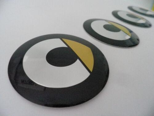 4x Pièce Smart pour moyeu des enjoliveurs 3d Sticker Autocollant Emblème 56 mm