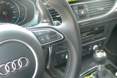 Carbon Schaltwippen-Verlängerung passend für Audi A5 S5 RS5 A6 S6 RS6 A8 S8 V2