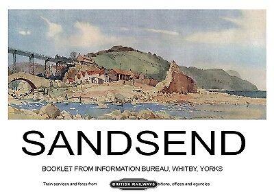 218 Vintage Railway Art Poster Sandsend Near Whitby North Yorkshire
