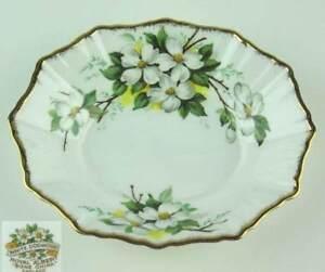 Candy-Nut-Dish-Royal-Albert-White-Dogwood-fluted-edge-vintage-bone-china