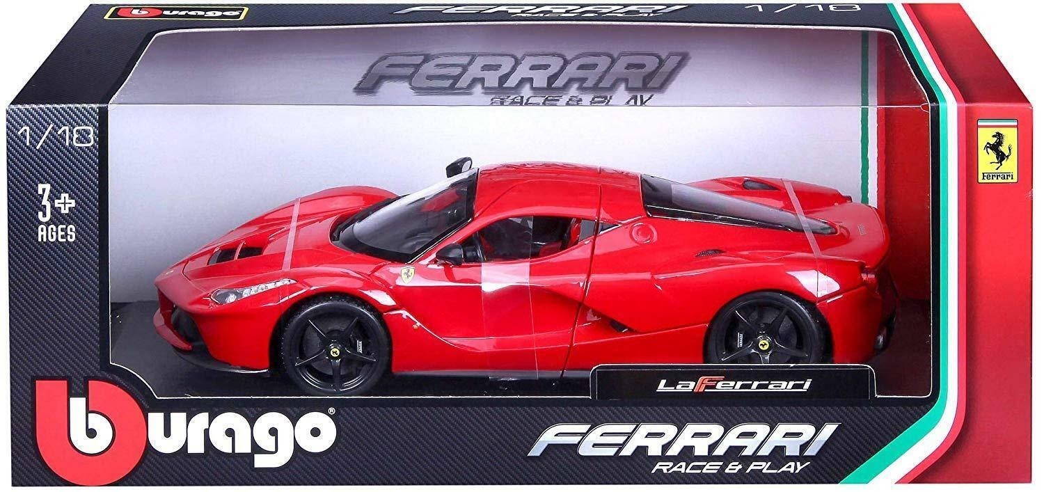 Bburago Ferrari Race & Play Play Play La Ferrari Diecast Model Sports Car  1 18- Red f7880d