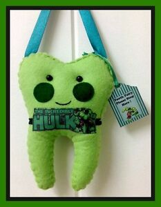 Tooth-Fairy-Hulk-Insp-hanging-Pillow-Handmade-Lost-tooth-Goes-in-pocket