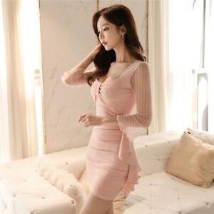 0ec1045db4ad Caricamento dell immagine in corso Elegante-vestito-abito-donna-tubino-slim- corto-rosa-