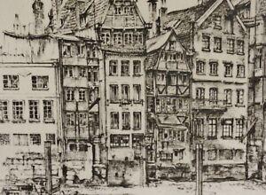 Illeggibili firmato-litografia 1973: Amburgo Nicolai-Fleet/Nikolaifleet