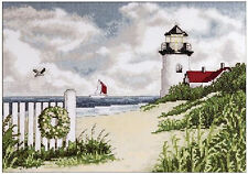 Design Works Peaceful Shores 9 X 12 Light House Counted Cross Stitch Kit 2591
