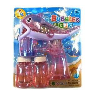 Seifenblasenpi<wbr/>stole Seifenblasen Delfin mit 2 Flaschen und LED