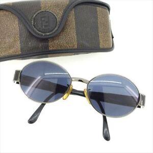 13c18a2ad1 Image is loading Fendi-sunglasses-Logo-Black-Woman-unisex-Authentic-Used-