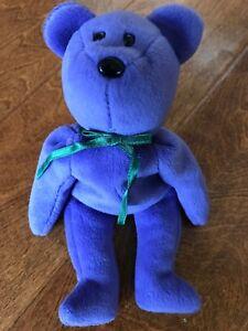 TY Beanie Baby - TEDDY VIOLET - ORIGINAL (No Hang Tag) 1st Gen Tush ... b9de5e26565b