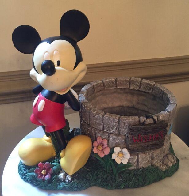 Mickey Mouse Wishing Well Planter Disney Garden Decor Flower Pot