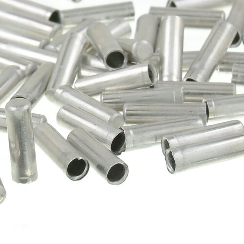 100 pcs ALUMINUM BIKE BICYCLE SHIFTER BRAKE CABLE TIPS CAPS ENDS CRIMPS FERRULE