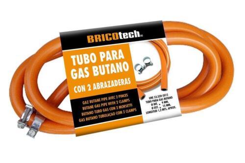 GAS BUTANO tubo con morsetti per Paella BRUCIATORE GAS BOTTLE 120 CM