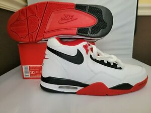 Nike Flight Legacy Men Shoes White Black University Red BQ4212 100 Size 10 & 8.5