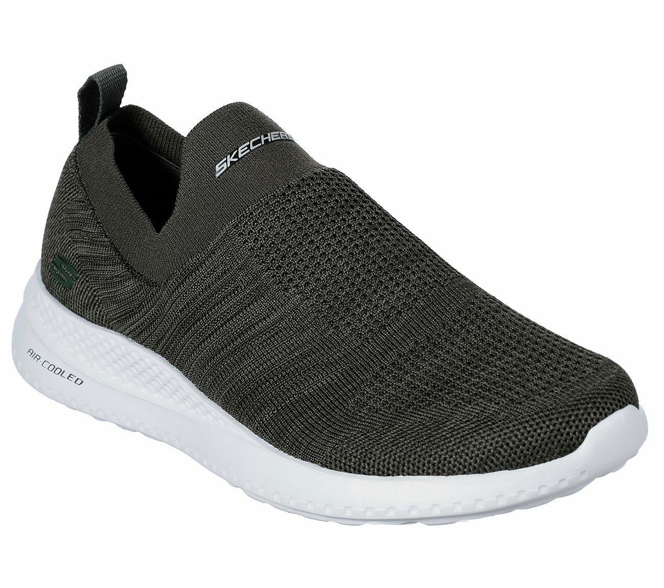 51521 Black Skechers Shoes Men's Memory Foam Comfort Slip On Casual Mesh Sneaker