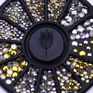500Pcs-Nail-Art-Studs-Mini-Gold-Silver-Round-Rhinestone-Tips-Manicure-Decoration