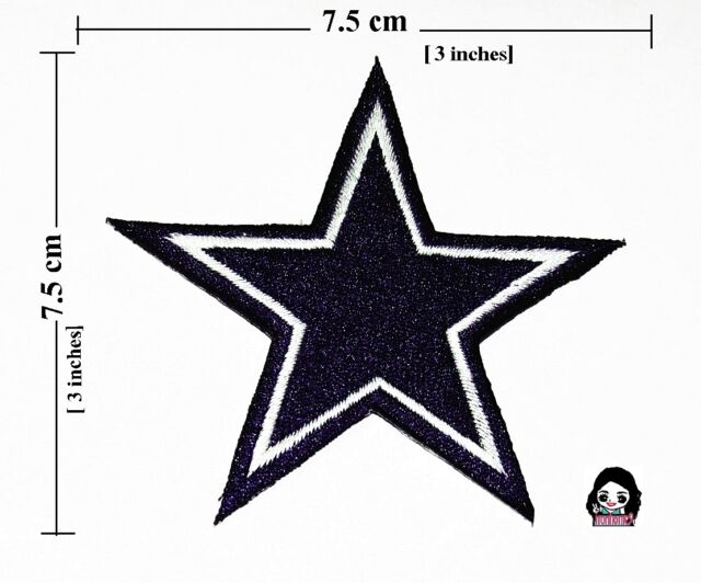 Dallas Cowboy Star Logo Embroidery Iron Sewing Patch On Fabric Ebay