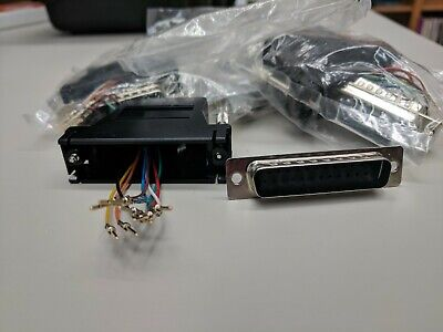 5x DB25 DB-25 Female Parallel Connector Modular Adapter RJ45 Cat5 8P8C Extender