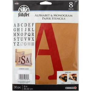 Alphabet /& Monogram Serif 8 FolkArt 50316 Stencil Paper 8