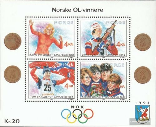Norway block12 complete issue unmounted mint never hinged 1989 Winter Olympi